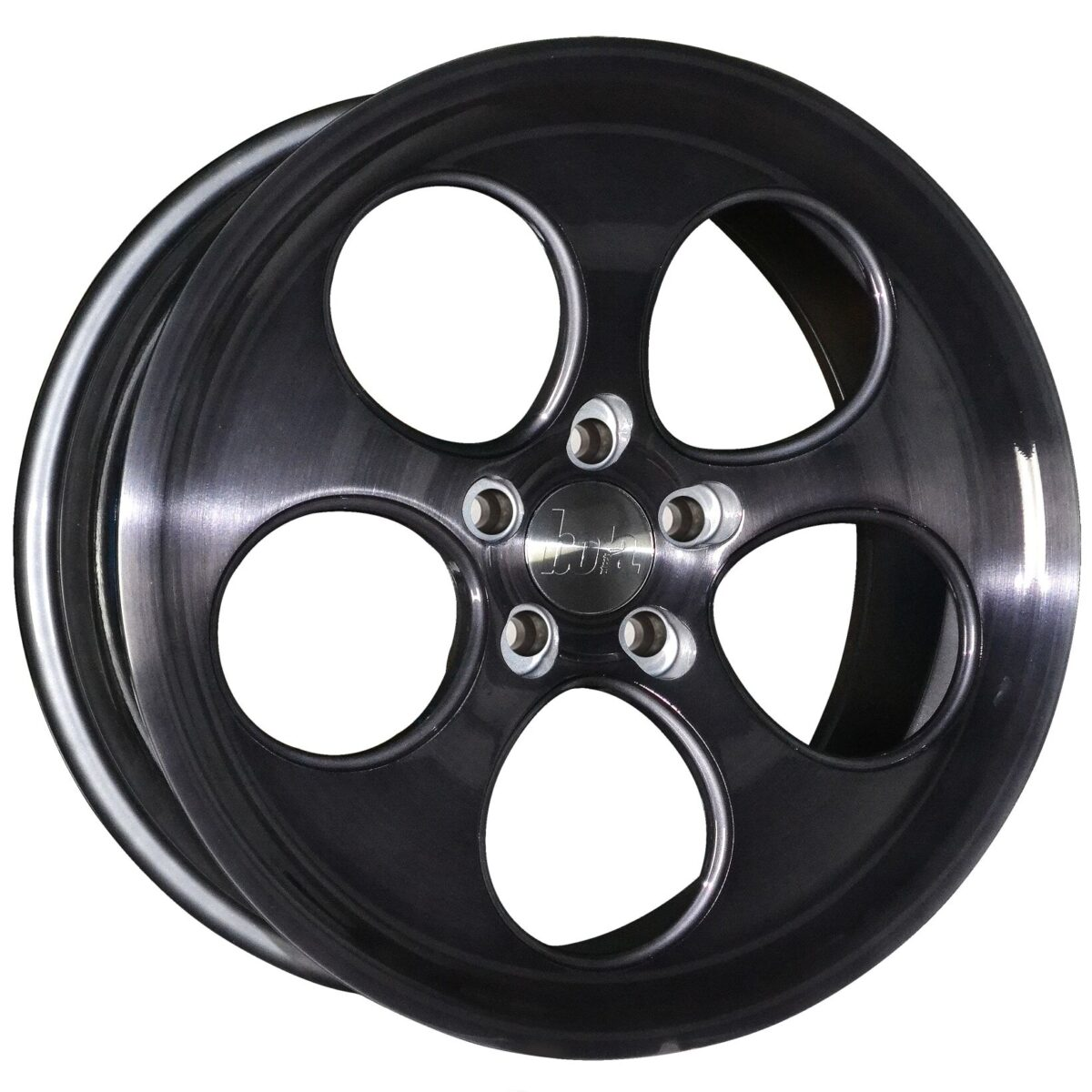 "18"" BOLA B5 Wheels - Black Brushed Polished Face - VW / Audi / Mercedes - 5x112"