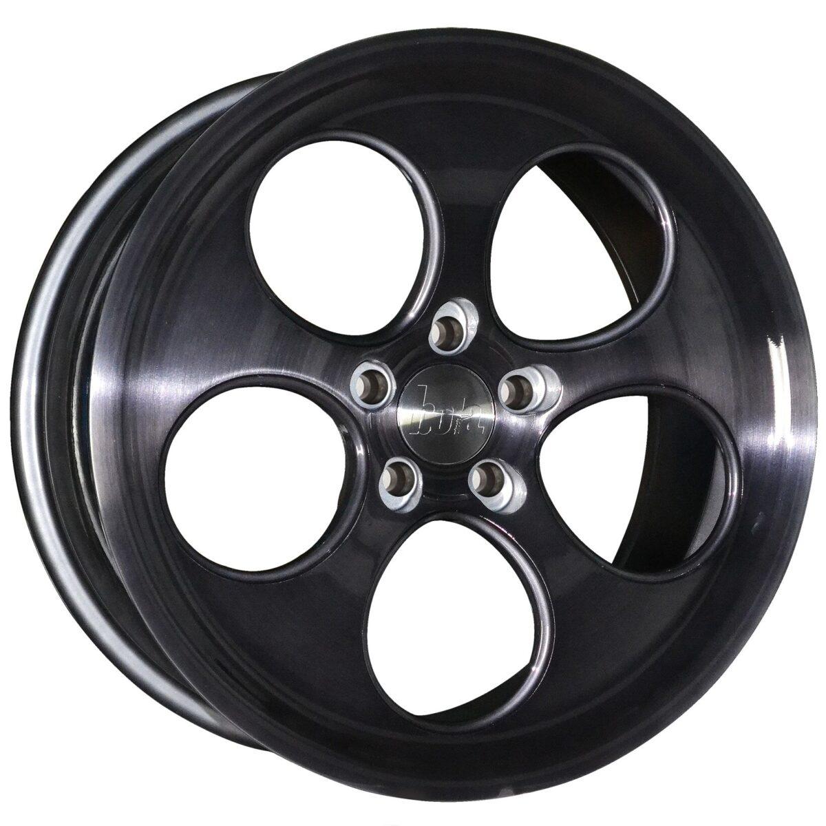 "18"" BOLA B5 Wheels - Black Brushed Polished Face - All BMW Models"