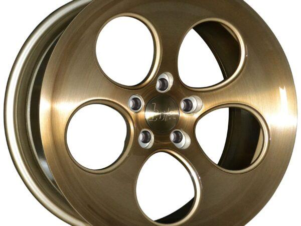 "18"" BOLA B5 Wheels - Bronze Brushed Polished Face - VW / Audi / Mercedes - 5x112"