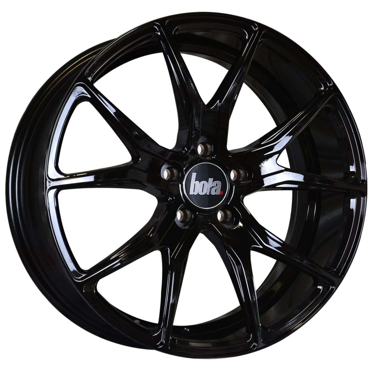 "18"" BOLA B6 Wheels - Gloss Black - VW / Audi / Mercedes - 5x112"