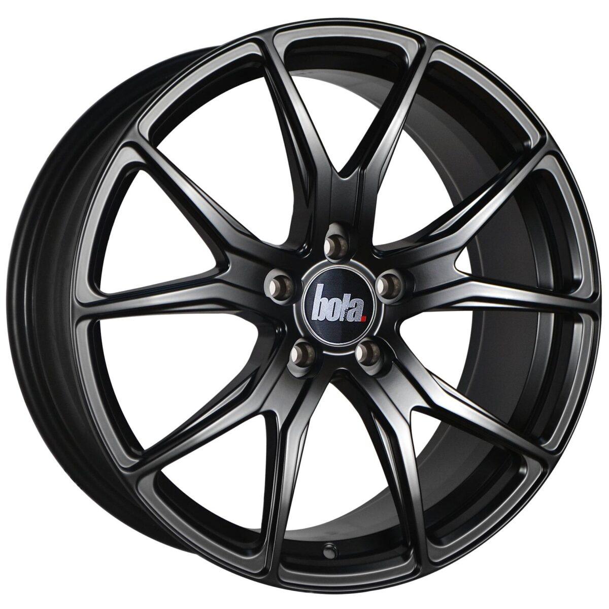 "18"" BOLA B6 Wheels - Matt Black - VW / Audi / Mercedes - 5x112"