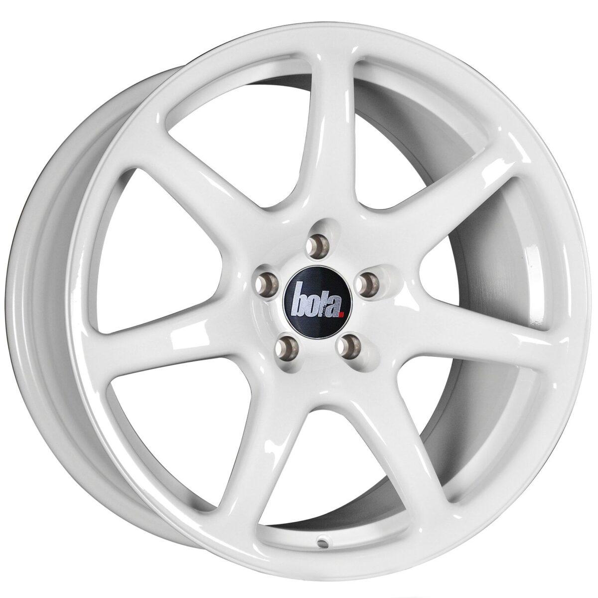 "18"" BOLA B7 Wheels - White - VW / Audi / Mercedes - 5x112"