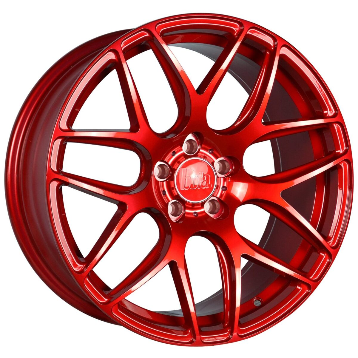 "18"" BOLA B8R Wheels - Candy Red - VW / Audi / Mercedes - 5x112"