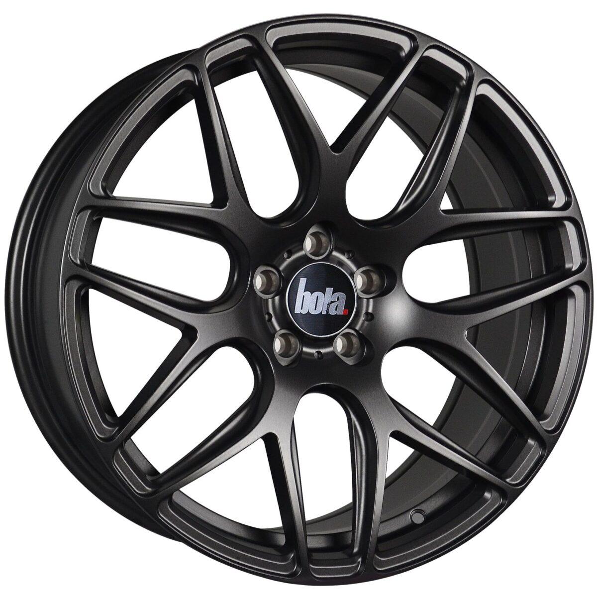 "18"" BOLA B8R Wheels - Matt Gunmetal - VW / Audi / Mercedes - 5x112"