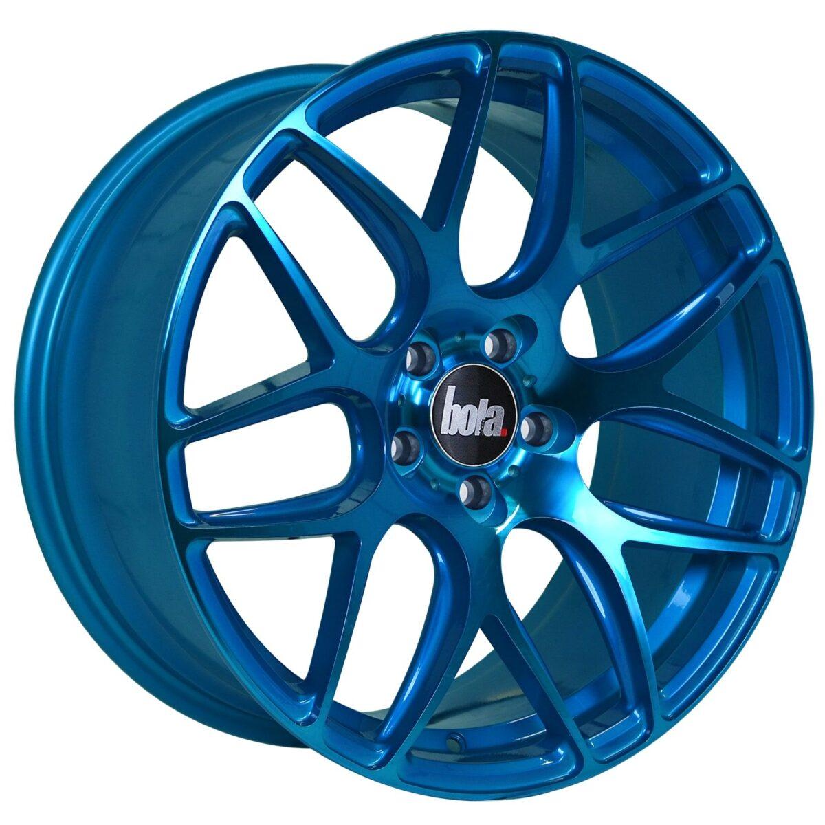 """18"""" BOLA B8R Wheels - Hyper Blue - VW / Audi / Mercedes - 5x112"""