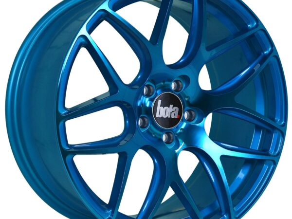 "18"" BOLA B8R Wheels - Hyper Blue - VW / Audi / Mercedes - 5x112"