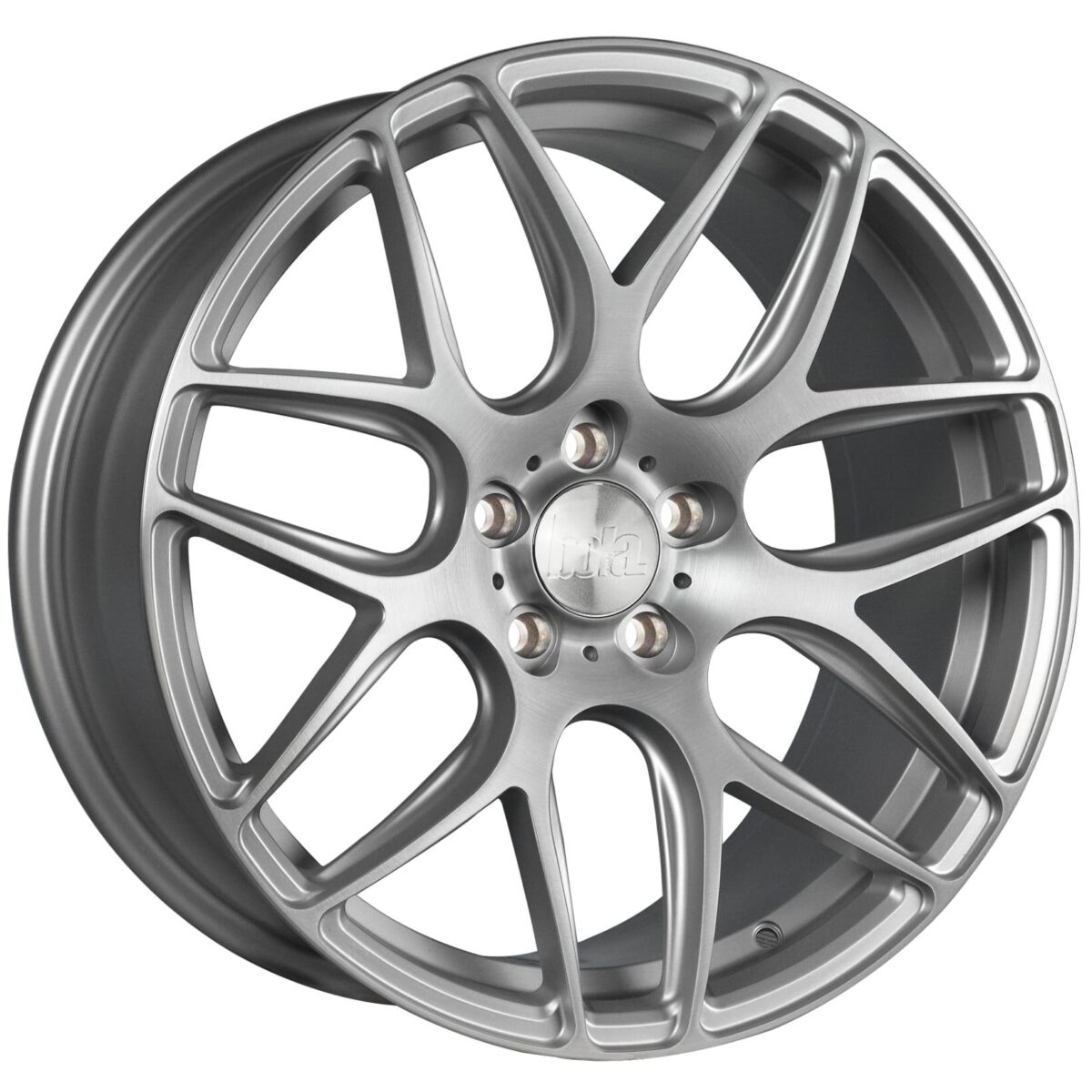 "18"" BOLA B8R Wheels - Matt Silver Brushed Polished - VW / Audi / Mercedes - 5x112"