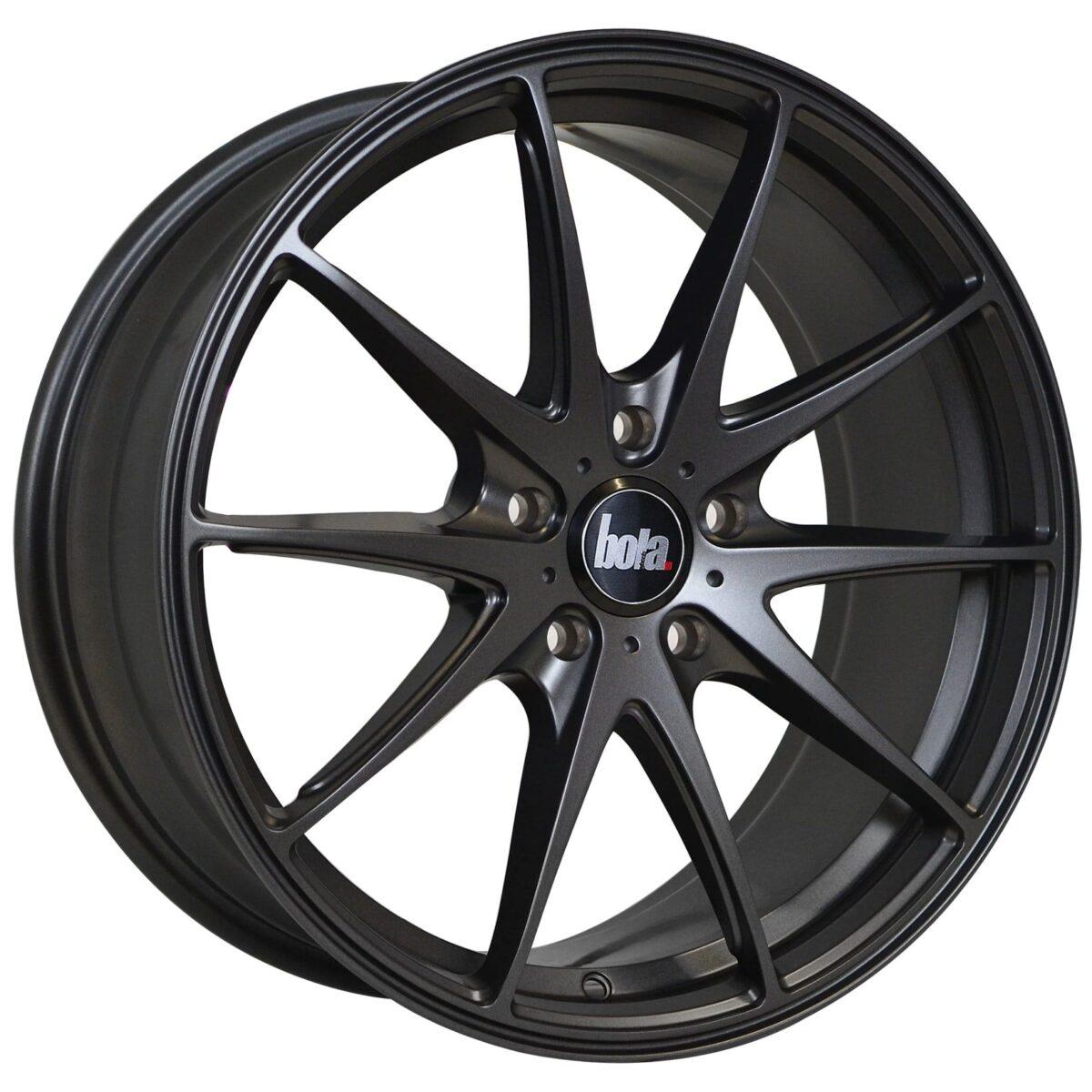 "18"" BOLA B9 Wheels - Matt Gunmetal - VW / Audi / Mercedes - 5x112"