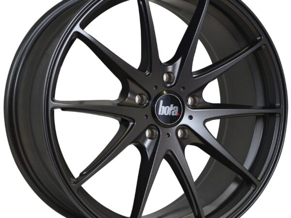 "18"" BOLA B9 Wheels - Matt Gunmetal - VW / Audi / Mercedes - 5x112"