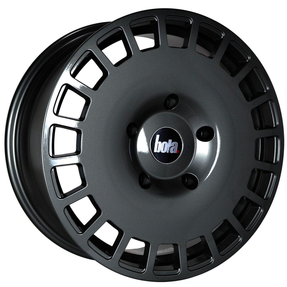 "19"" BOLA B12 Wheels - Gloss Gunmetal - VW / Audi / Mercedes - 5x112"