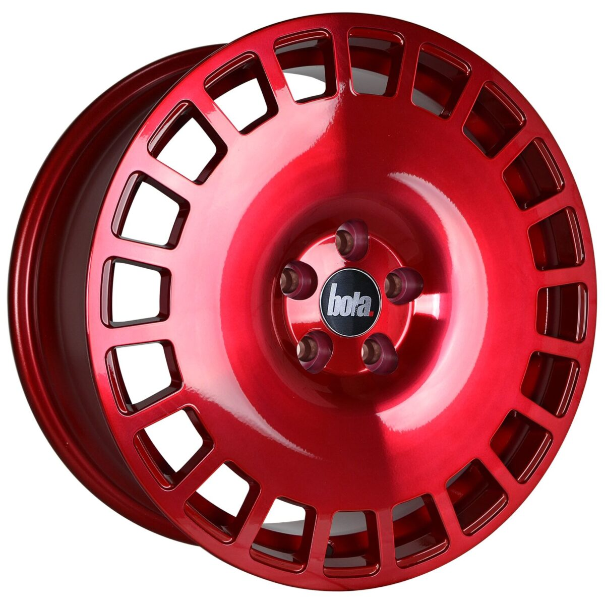 "18"" BOLA B12 Wheels - Hyper Red - VW / Audi / Mercedes - 5x112"