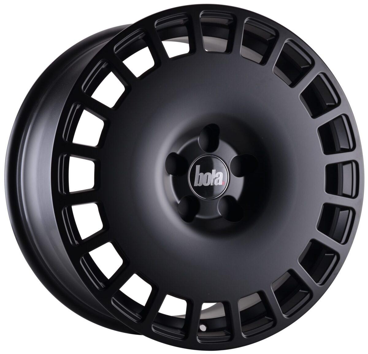 "19"" BOLA B12 Wheels - Matt Black - VW / Audi / Mercedes - 5x112"
