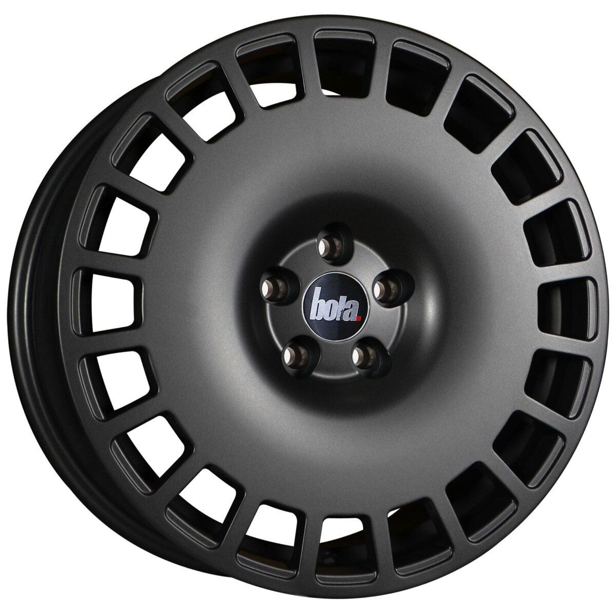 "18"" BOLA B12 Wheels - Matt Gunmetal - VW / Audi / Mercedes - 5x112"