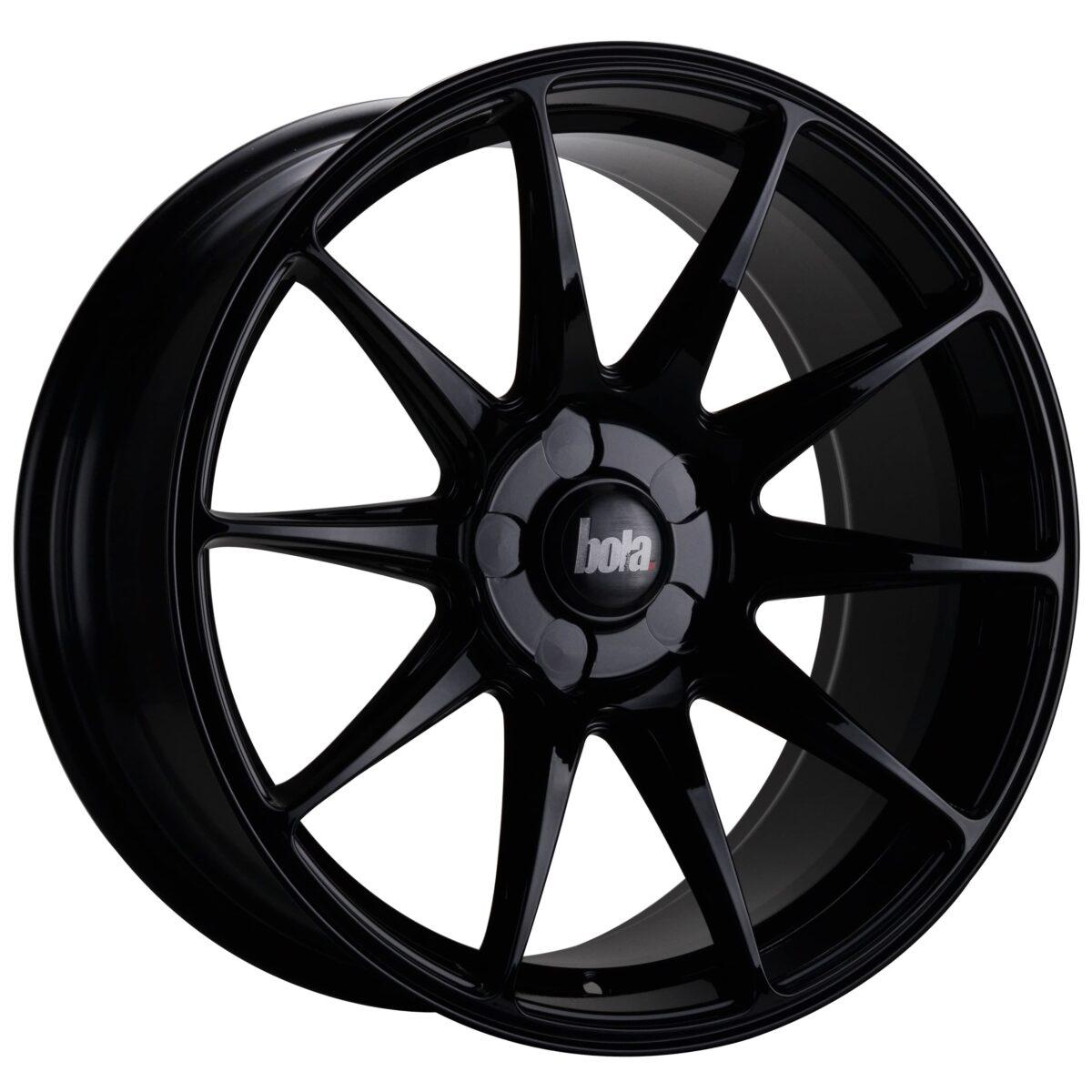 "18"" BOLA B15 Wheels - Gloss Black - VW / Audi / Mercedes - 5x112"