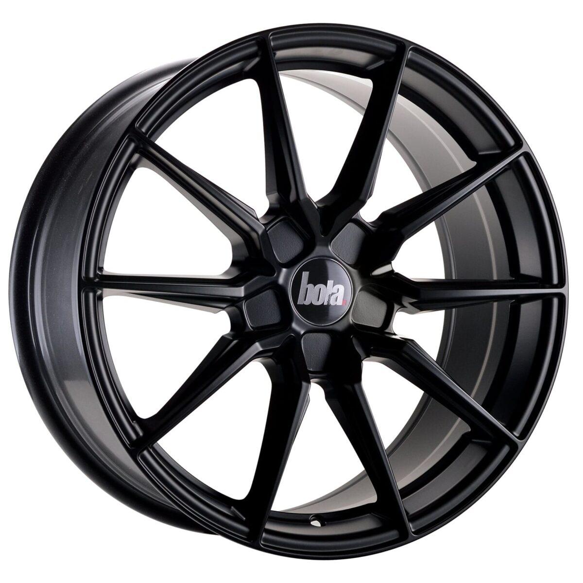 "19"" BOLA B16 Wheels - Matt Black - VW / Audi / Mercedes - 5x112"