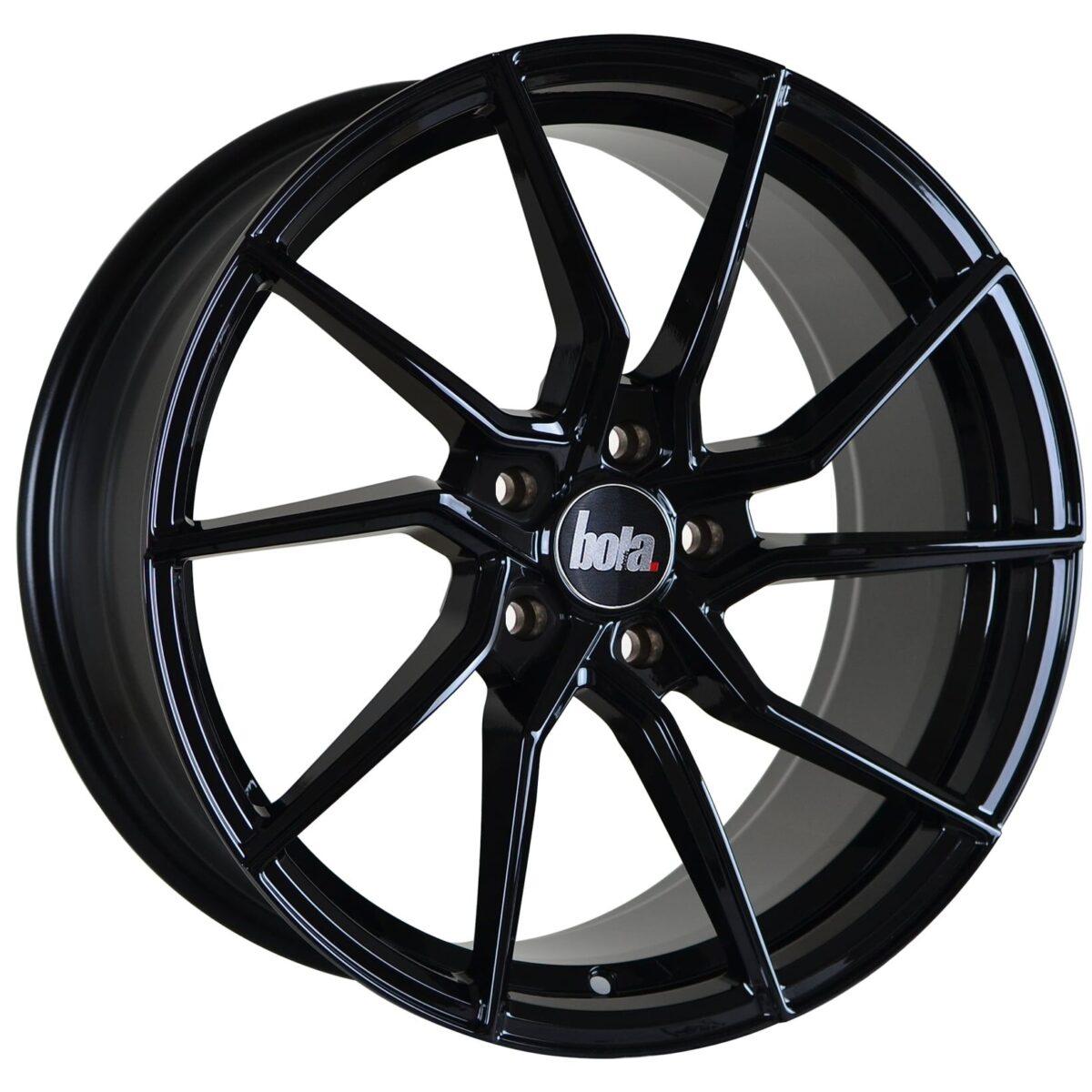 "19"" BOLA B25 Wheels - Gloss Black - VW / Audi / Mercedes - 5x112"