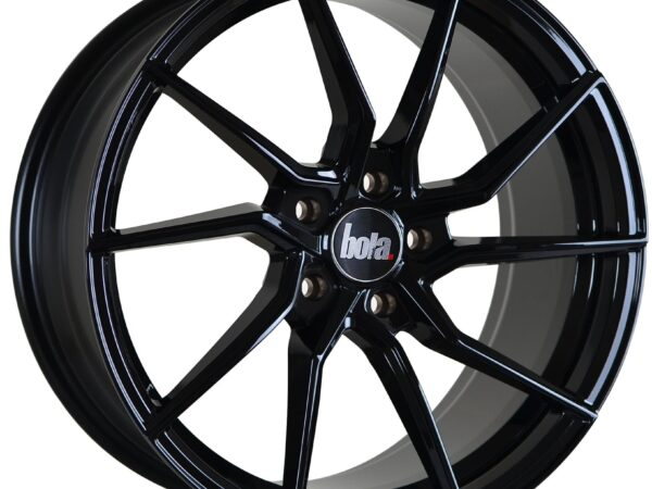 "18"" BOLA B25 Wheels - Gloss Black - VW / Audi / Mercedes - 5x112"