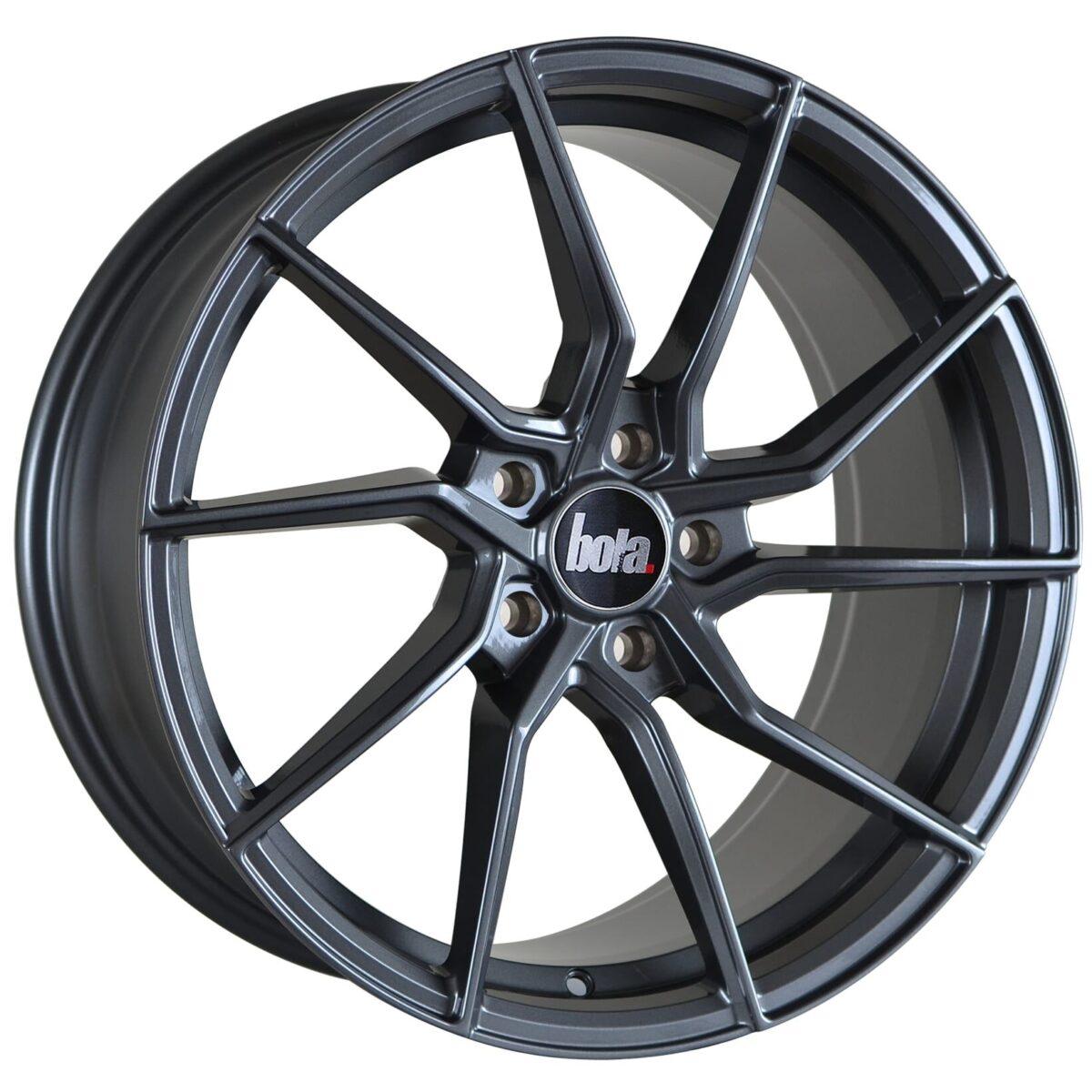 "18"" BOLA B25 Wheels - Gloss Gunmetal - VW / Audi / Mercedes - 5x112"