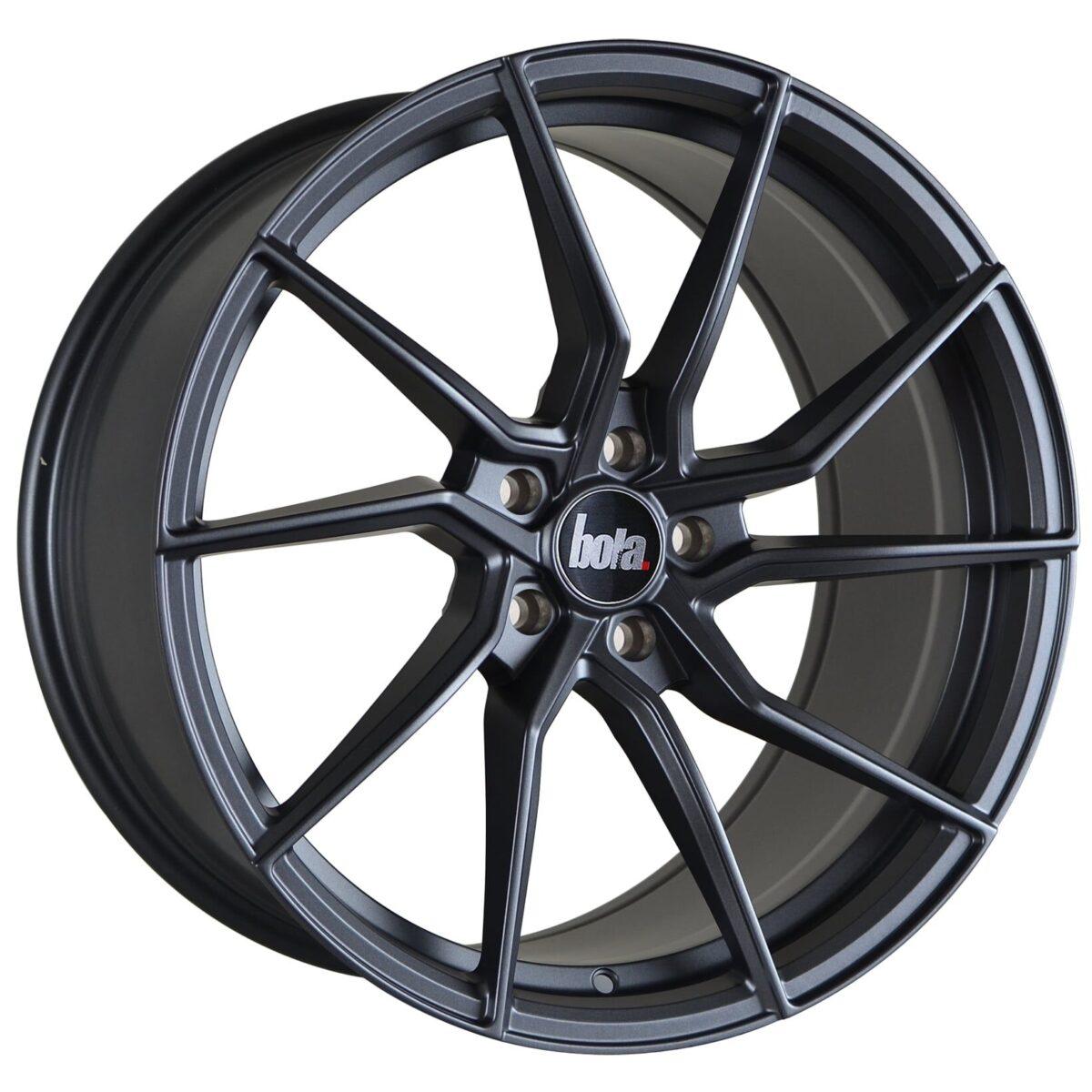 "18"" BOLA B25 Wheels - Matt Gunmetal - VW / Audi / Mercedes - 5x112"