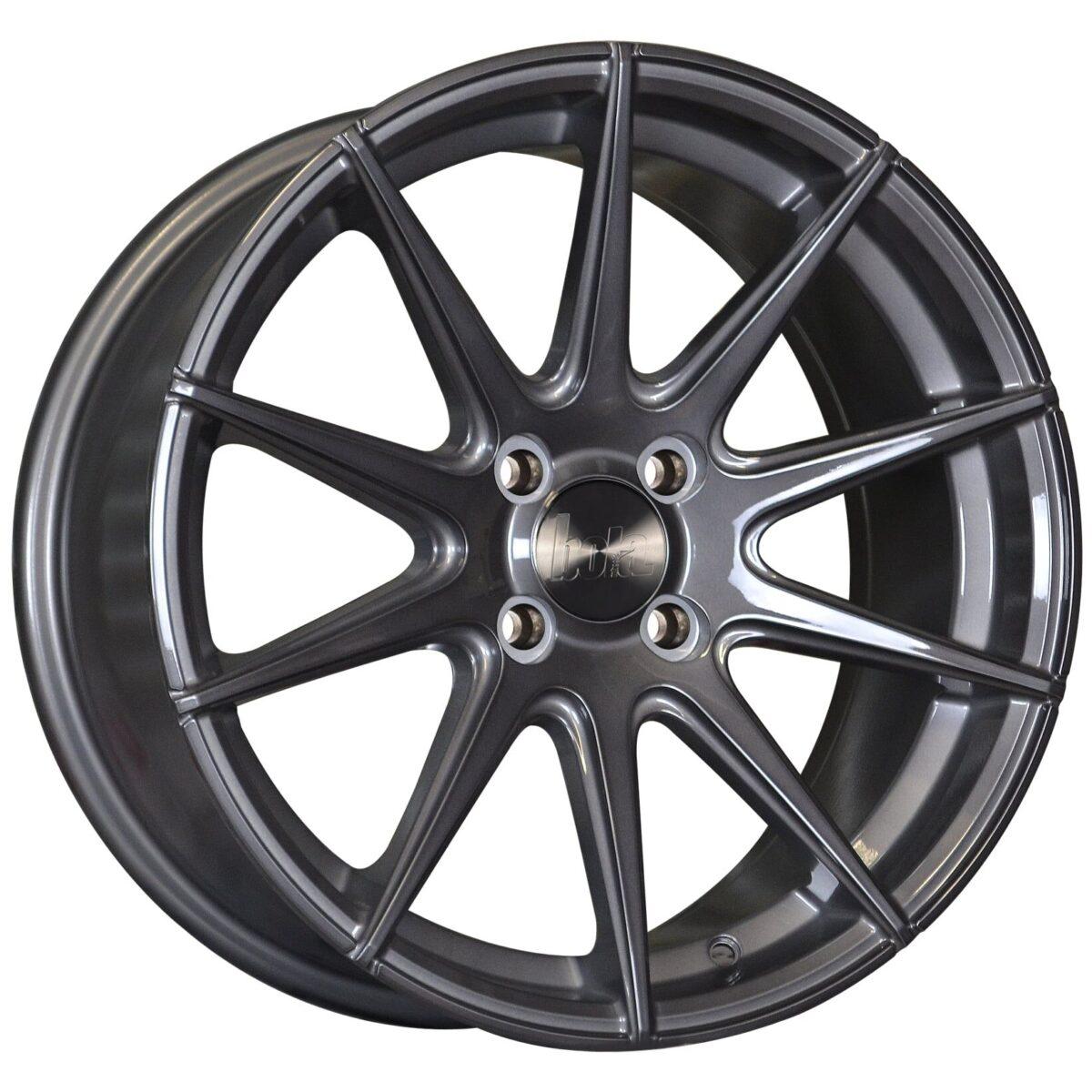 """19"""" BOLA CSR Wheels - Gloss Titanium - VW / Audi / Mercedes - 5x112"""