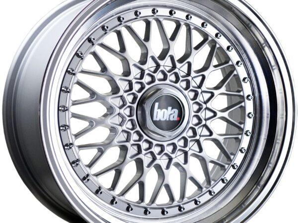 """18"""" BOLA TX09 Wheels - Silver Polished Lip - VW / Audi / Mercedes - 5x112"""