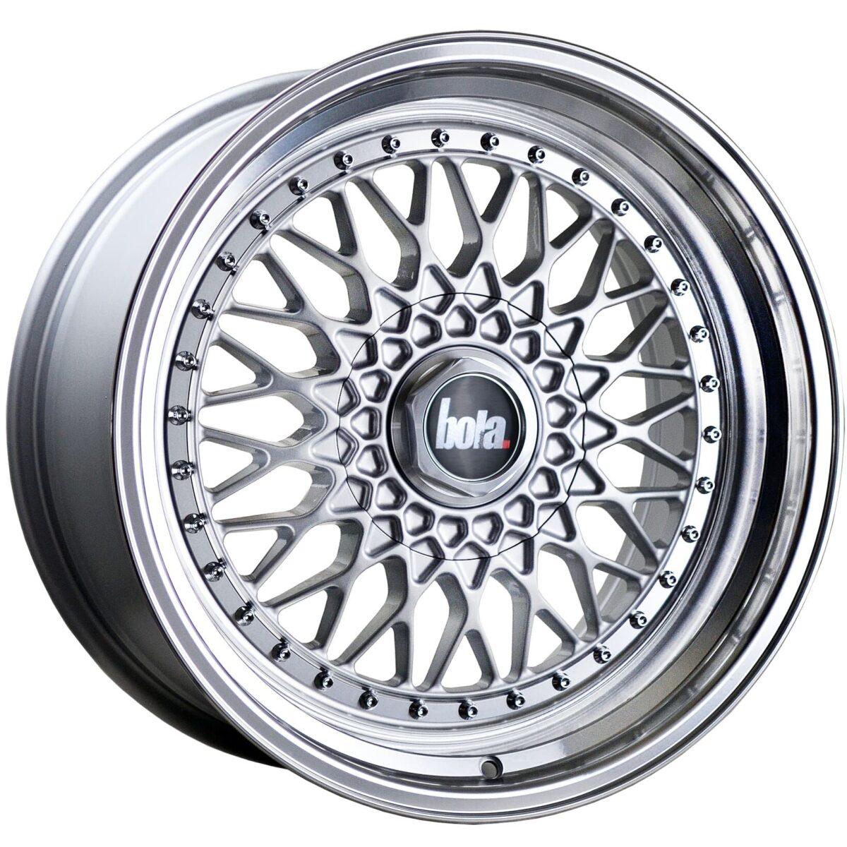 """18"""" BOLA TX09 Wheels - Silver Polished Lip - All BMW Models"""